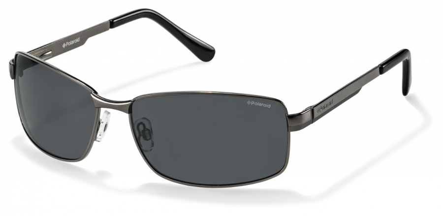 Pokud vyžadujete hranatější tvary,  nezklamou vás tyto brýle. Mají tmavě šedá skla asamozřejmě také polarizační fitr. (Polaroid P4416B B9W/Y2)