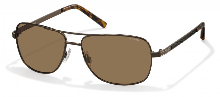 Pokud se vám líbí tvary blízké pilotkám, nezklamou vás tyto brýle. Mají hnědá skla asamozřejmě také polarizační filtr. (Polaroid 2029 QHR)