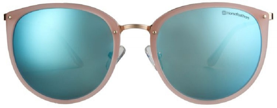 Růžové sluneční brýle Horsefeathers smodrými zrcadlovkami (model 397017 C1)