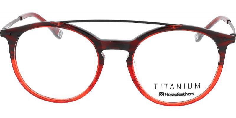 Dámské titanové brýle sdvojitou hrazdou se skvěle hodí také kzabroušení multifokálních skel. Díkypoužitému materiálu jsou navíc ultra lehké.